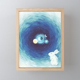 Down The Rabbit Hole Framed Mini Art Print