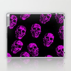 purple SKULLS Laptop & iPad Skin