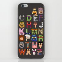 tmnt iPhone & iPod Skins featuring TMNT ABCs by Mike Boon
