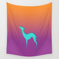 iggy Wall Tapestries featuring Greyhound by eDrawings38