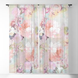 Love of a Flower Sheer Curtain