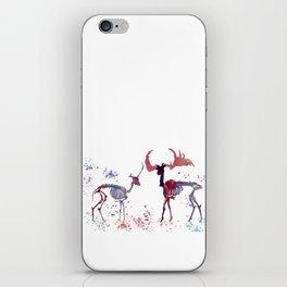 Deer skeleton iPhone Skin