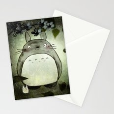 Totoro in the rain Stationery Cards