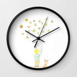 The Little Prince and Fox Wall Clock