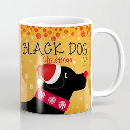 Black Dog Christmas Coffee Mug
