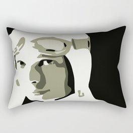 Silhouette vector Art: Amelia Rectangular Pillow