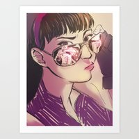kate bishop Art Prints featuring Kate Bishop  by S8ANS