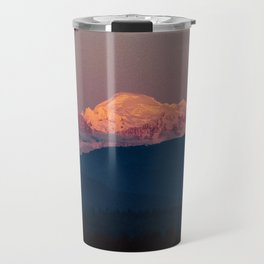 Sunset on Mount Baker Travel Mug