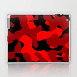 Black and Red Camo abstract Laptop & iPad Skin