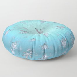 Let Weed Snow Floor Pillow