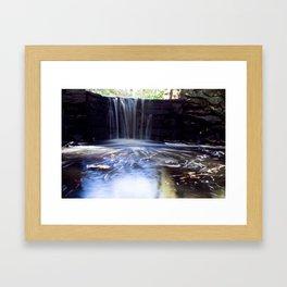 Creek Waterfall Framed Art Print