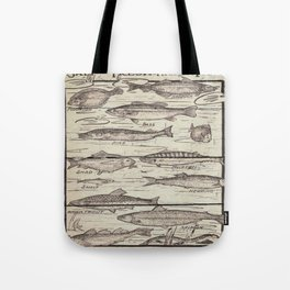 father's day fisherman gifts whitewashed wood lakehouse freshwater fish Tote Bag