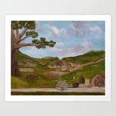 Here be Hobbits Art Print