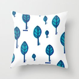Standing Leaf Print Close Up Throw Pillow