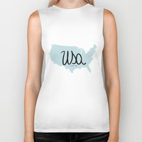 usa Biker Tanks featuring USA by Gabriela Fuente