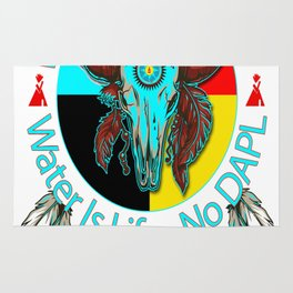 Water Protector Water Is Life - No DAPL Rug