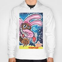 bad wolf Hoodies featuring Bad Wolf by BIRITA illustration