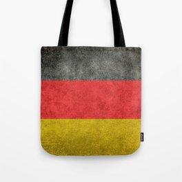 German National flag, Vintage retro patina Tote Bag