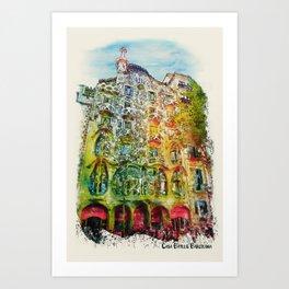 Casa Batllo Barcelona Art Print