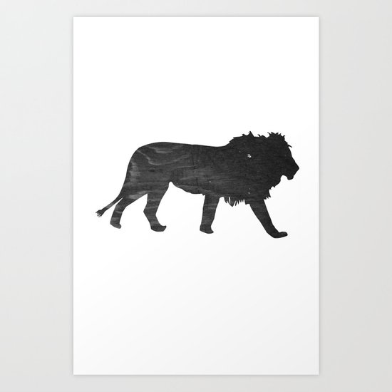 Lion (The Living Things Series) Art Print
