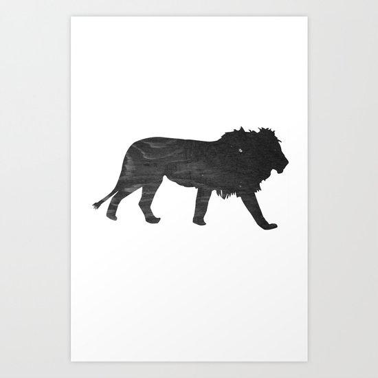 Lion (The Living Things Series) Art Print