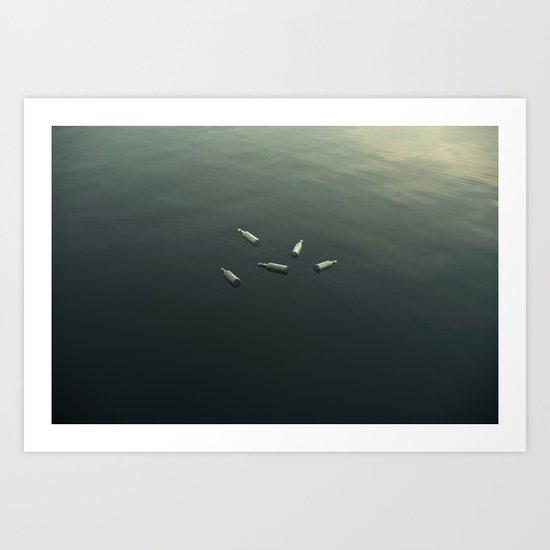 Floating still life Art Print