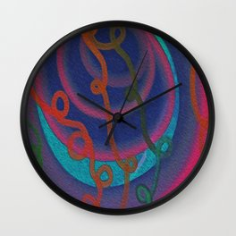 All Curled Up Wall Clock