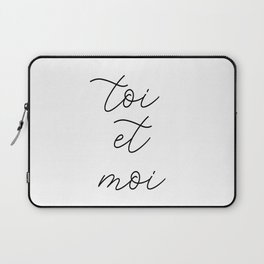toi et moi, you and me Laptop Sleeve