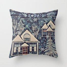 Christmas , Countryside Throw Pillow