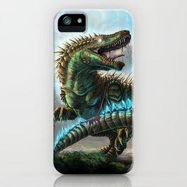 Godzilla VS. Atomic Rex iPhone Case