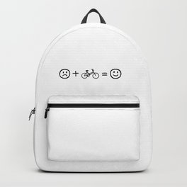 Cycling Makes You Happy Backpack