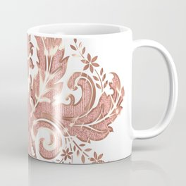 Rose-gold floral ornament Coffee Mug