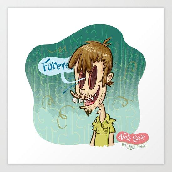 Zombie Self-Portrait: Forever Art Print