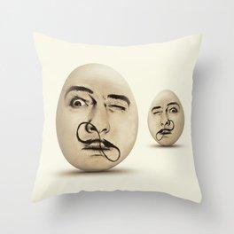 DALI #EGGS Throw Pillow