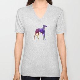 Arabian Greyhound in watercolor Unisex V-Neck