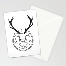 Hunters head Stationery Cards