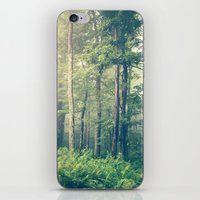 green iPhone & iPod Skins featuring Inner Peace by Olivia Joy StClaire
