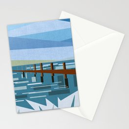 LOOKING AT THE SEA (abstract) Stationery Cards