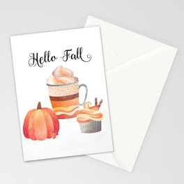 Hello Fall Stationery Cards