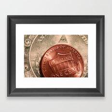 Money! Framed Art Print
