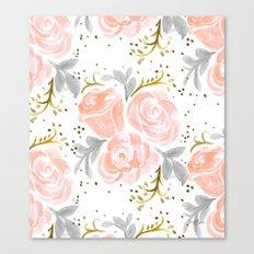 Sparkling Rosé flora Canvas Print