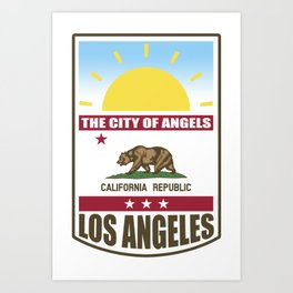 Los Angeles California Art Print