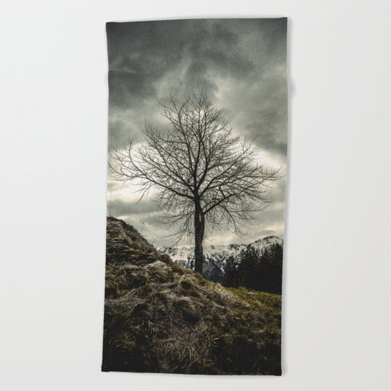Against the Wind Beach Towel