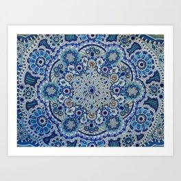 Snowflake Mandala Art Print