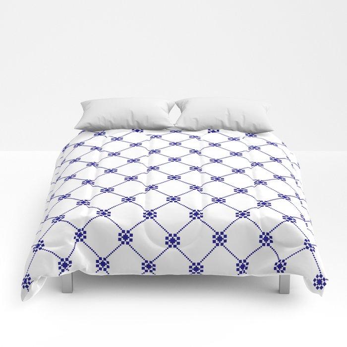 Folk pattern II Comforters