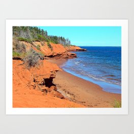 Red Cliffs of PEI Art Print