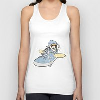 sneaker Tank Tops featuring Sneaker ridin' by catamariii