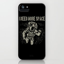 Astronaut Cosmonaut Space Universe Motif iPhone Case
