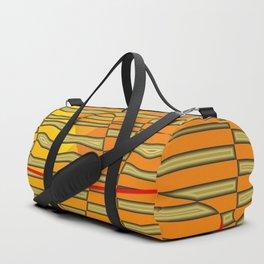 Distorted golden/yellow Duffle Bag