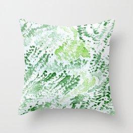 Green Serene Watercolor Throw Pillow
